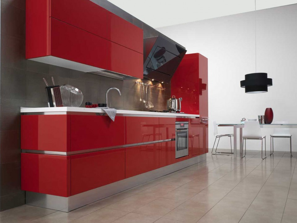 Beautiful Cucine Rosse Laccate Pictures - Ideas & Design 2017 ...